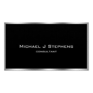 Elegantes einfaches Schwarzes und Chrom Visitenkarten