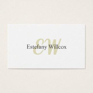 Elegantes Einfaches Weiß Professionelles Minimum Visitenkarte