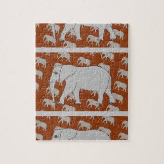 Elegantes Elefant-Foto-Puzzlespiel