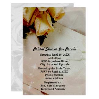 Elegantes Elfenbein - gelbes weißes 12,7 X 17,8 Cm Einladungskarte