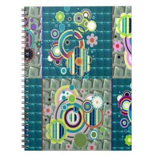 Elegantes exotisches künstlerisches spiralblock