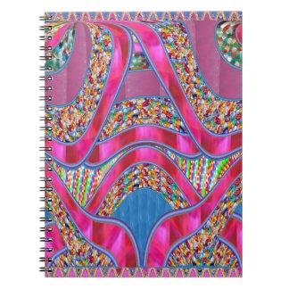 Elegantes FEIER Geschenk-Rosa-seidene Notizblock