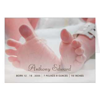 Elegantes Foto-neugeborene Karte