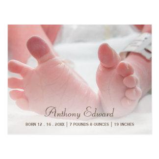 Elegantes Foto-neugeborene Postkarte