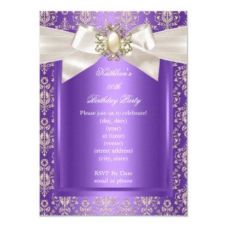 Elegantes Geburtstags-Party-lila Karte