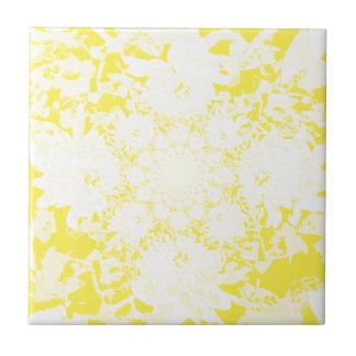 Elegantes gelbes Blumendahlie-Blumen-Muster Keramikfliese