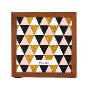 Elegantes geometrisches Muster Stifthalter