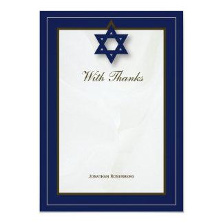 Elegantes Gewebe-Bar Mitzvah danken Ihnen in der 12,7 X 17,8 Cm Einladungskarte