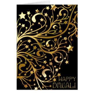 Elegantes glückliches Diwali spielt das schwarze Karte