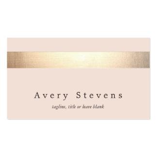 Elegantes Gold Striped (kein Glanz) modernes Visitenkarten