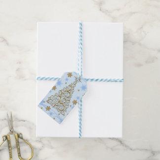 Elegantes Goldblaue Geschenkanhänger