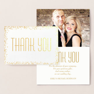 Elegantes GoldFoto danken Ihnen Folienkarte