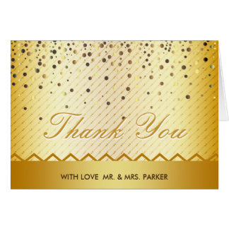 Elegantes GoldGlitterconfetti-Metall danken Ihnen Karte