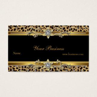 Elegantes Goldleopard-Schwarzes elegant Visitenkarten