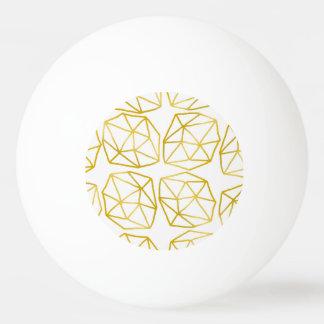 Elegantes Goldpolygonales einzigartiges Tischtennis Ball