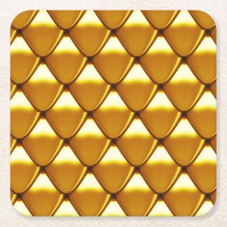 Elegantes Goldskala-Muster Rechteckiger Pappuntersetzer