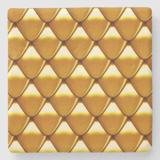 Elegantes Goldskala-Muster Steinuntersetzer