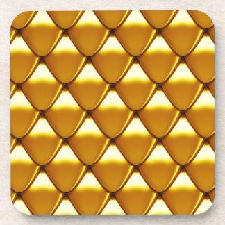 Elegantes Goldskala-Muster Untersetzer