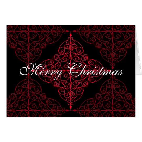 Elegantes gotisches Weihnachtsdekorativer Entwurf Grußkarte