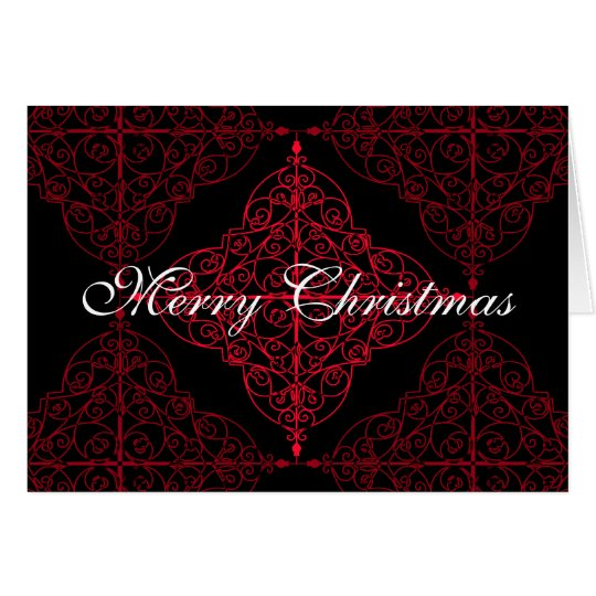Elegantes gotisches Weihnachtsdekorativer Entwurf Karte