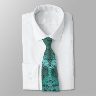 Elegantes Grün Jeweled Blick-Mandala Individuelle Krawatten