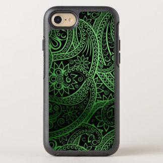 Elegantes grünes Paisley-Muster OtterBox Symmetry iPhone 7 Hülle