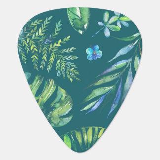 Elegantes hawaiisches Aquarell mit Blumen Plektron