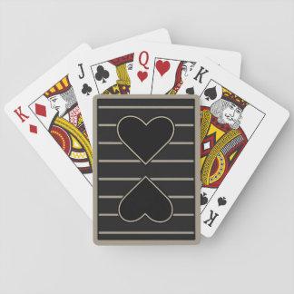 Elegantes Herz zu Herzen 2 Spielkarten