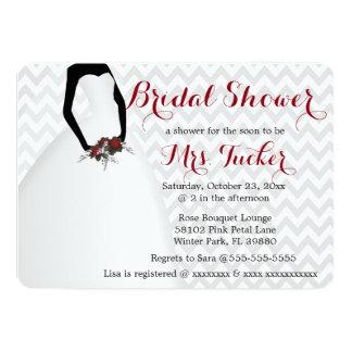 Elegantes Hochzeits-Kleid u. 12,7 X 17,8 Cm Einladungskarte