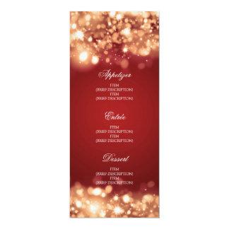 Elegantes Hochzeits-Menü-funkelndes Licht-Gold 10,2 X 23,5 Cm Einladungskarte