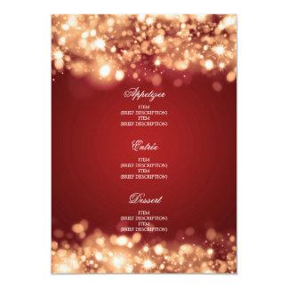 Elegantes Hochzeits-Menü-funkelndes Licht-Gold 12,7 X 17,8 Cm Einladungskarte
