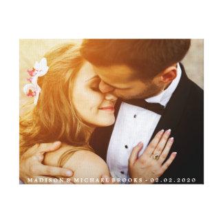 Elegantes Hochzeits-Paar-Foto-Andenken Leinwanddruck