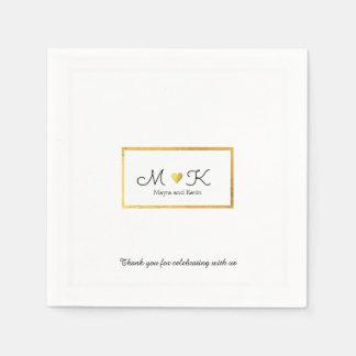 elegantes Hochzeitsfeier-Empfangsweiß Papierserviette