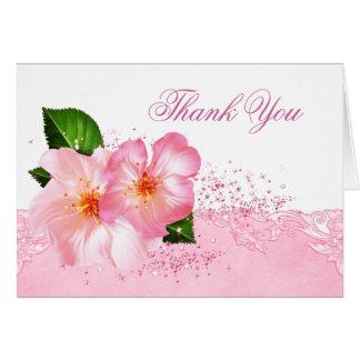 Elegantes Kirschblüten-Begräbnis danken Ihnen Karte