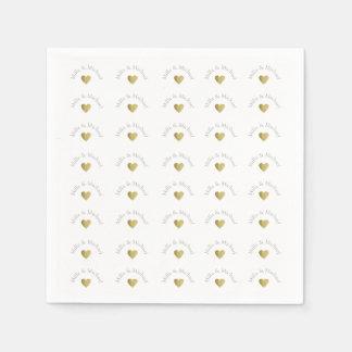 elegantes, klares und einfaches Monogramm der Serviette