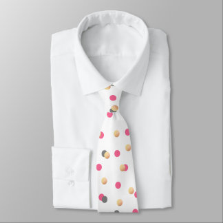 elegantes Küken-Imitat-Goldgrauer rosa Confetti Bedruckte Krawatte
