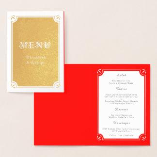 Elegantes kundenspezifisches Rot-und Folienkarte