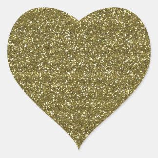 Elegantes leeres GoldGlitter-Siegel Herz-Aufkleber