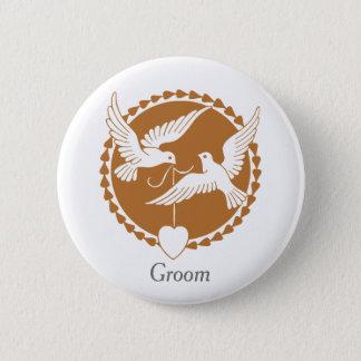 Elegantes Liebe-Tauben-Abzeichen für einen Runder Button 5,1 Cm