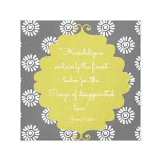 Elegantes Limones Leinwand-Wandhängen Janes Austen Leinwanddruck