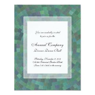 Elegantes Malachit-Grün-geometrisches Muster 10,8 X 14 Cm Einladungskarte