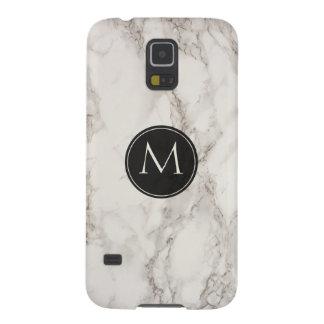 Elegantes Marmorentwurfs-Mode-Monogramm Galaxy S5 Cover