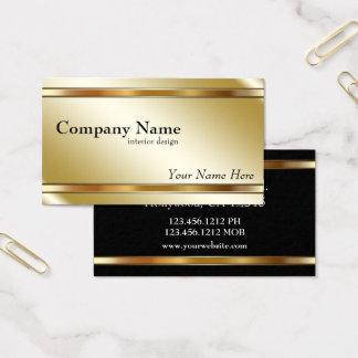 Elegantes metallisches schattiertes Gold Visitenkarte