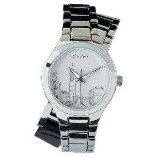 Elegantes minimales Big Ben Skizze-Chic Londons Armbanduhr