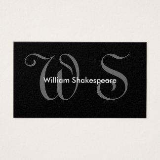 Elegantes mit Monogramm Visitenkarte