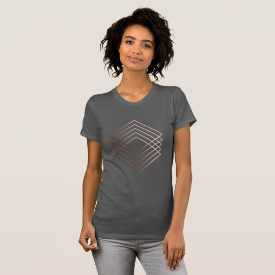 elegantes modernes minimales Imitat-Rosengold T-Shirt
