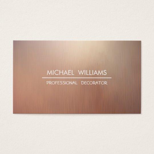 Elegantes modernes minimalistisches metall visitenkarten - Metall visitenkarten ...