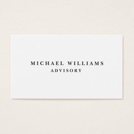 Elegantes modernes minimalistisches metall visitenkarten zazzle - Metall visitenkarten ...