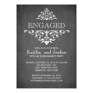 Elegantes modernes Tafel-Verlobungs-Party 12,7 X 17,8 Cm Einladungskarte