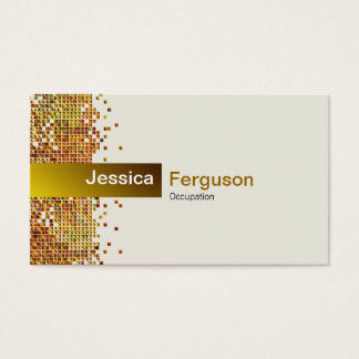 Elegantes Paillette-Gold Visitenkarte